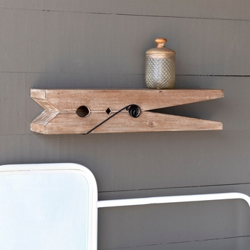 Wooden Clothespin Shelf #24