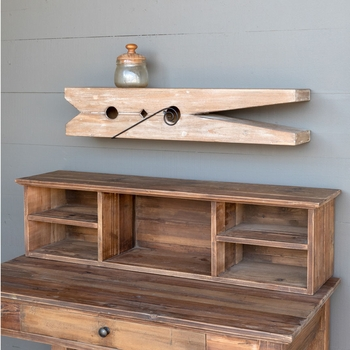 Wooden Clothespin Shelf #30