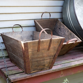 Wooden Lug Baskets (Set-2)