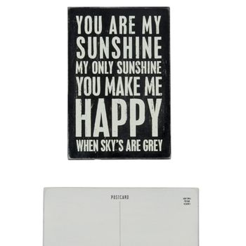 Wooden Postcard - Sunshine-CS