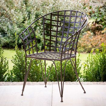 Woven Metal Garden Chair (Set-2)