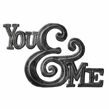 You & Me Metal Plaque