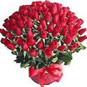 Red Roses Arrangement Basket