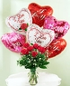 A Dozen Dozen rose with 6 baloons Carry out only