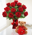 Abundant Love Velentine Red Rose delivery