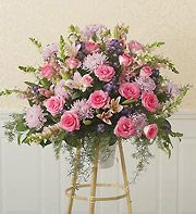 All-Pink Sympathy Standing Basket