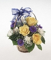Baby Boy Basket Flowers