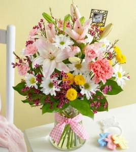 Bouquet for Baby with Frame Girl