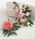 Carnation Corsage & Boutonniere Package