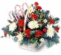 Christmas Candy Cane Lane Gift Basket