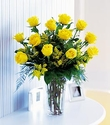 Dozen Long Stem Yellow Roses