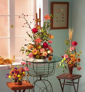 Fall mixed flowers