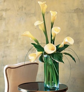 Funeral Flower Bouquets White Callas Flowers