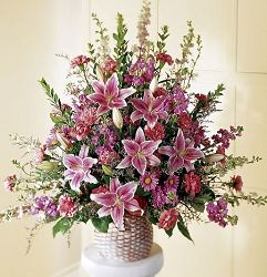 Lily Basket funeral