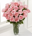 Long Stem Pink Rose Bouquet 24