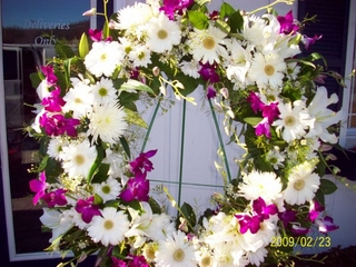 Mixed White and Purple flower Sympathy