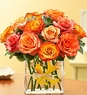 Modern Roses - One Dozen Orange
