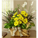 Tropical dish-garden-with-fresh-cut-flowers-plant-basket-