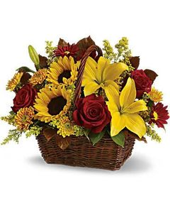 Mixed sunflower Basket