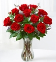 One Dozen  Valentine Red Roses