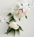 Orchid Corsage & Rose Boutonniere Package