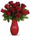 Passion's Heart Bouquet Rose
