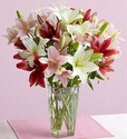 Pink, White Lily Bouquet