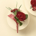 Red Carnations Boutonniere