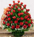 Red rose basket Happy Valentine