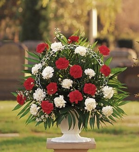 Red Sympathy Flowers Hope and Honor Basket Flowers