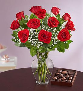 Rose - Red Roses with Chocolates