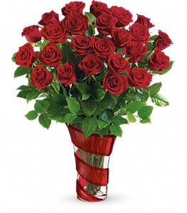 Red Rose Bouquet Happy Valentine Day