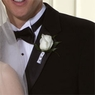 Simply White Rose Boutonniere