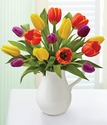 Spring Pitcher Full of Tulips