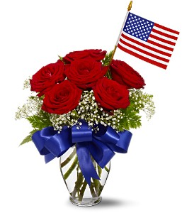 Star Spangled Roses Bouquet Flowers