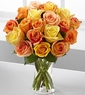 Sun-Drenched Autumn Rose Bouquet 24 Stems
