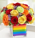 The Rainbow Bouquet - Multicolored Roses