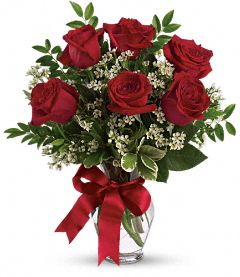 Thoughts of You Bouquet with Red Roses - Valentines