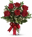 Thoughts of You Bouquet with Red Roses -