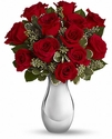 True Romance Bouquet with Red Roses Valentine