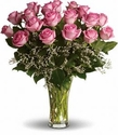 Two Dozen Long Stemmed Premium Pink Roses Happy Mother's Day
