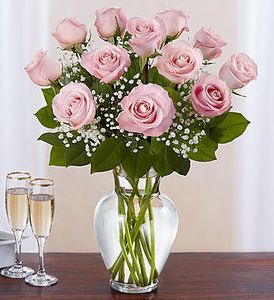 Mother's day Long Stem Pink Roses