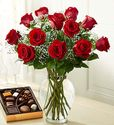 Valentine's Day Red 1 Dozen Long Stem Roses
