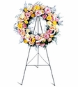 Vibrant funeral Rose Wreath