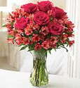 Vibrant Rose and Peruvian Lily Bouquet