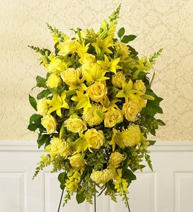 Yellow Sympathy Standing Spray