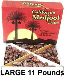 Large Medjool Dates 11 lbs (approximately 225+ dates) - (Latest Available Crop) - Solid Value - Ships via UPS (1-4 Business Day Delivery)