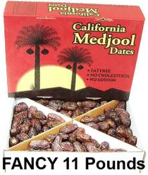 Fancy Medjool Dates 11 lbs (approximately 250+ dates) - (Latest Available Crop) - Great Value - Ships via UPS (1-4 Business Day Delivery)
