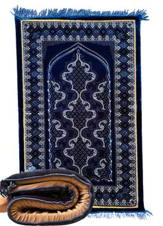 """Luxury Plush Orthopedic Prayer Rug (27"""" x 42"""" x 1.5"""" Made in Turkey) Assorted Colors and Designs"""