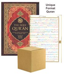 "The Holy Qur'an Color Coded English Translation with Matching Color Coded Arabic Text : Line by Line Format (Abdullah Yusuf Ali; Dr. Mustafa Ozel) Standard Size 6.5"" x 9.5"" x 1"" BULK CASE OF 10 COPIES - ELIGIBLE FOR FREE USA & CANADA SHIPPING"